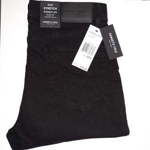 Kenneth Cole Stretch Jeans Straight Leg Black 34
